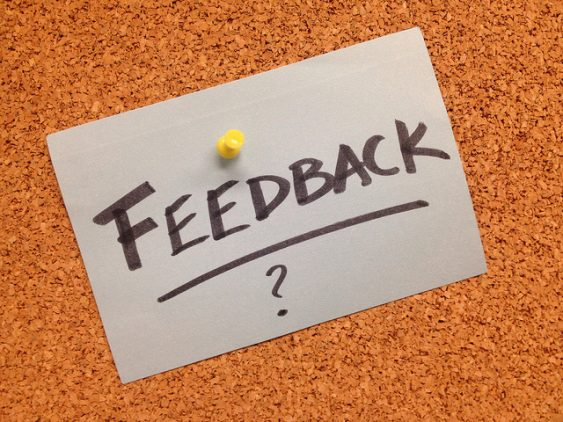 Feedback Post it note