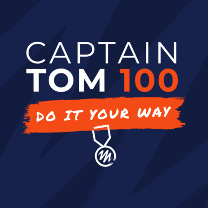 Captain Tom 100 logo and strapline