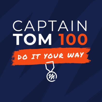 Captain Tom 100 logo and strapline