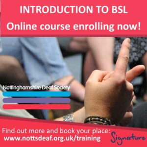Introduction to BSL online course enrolling now!